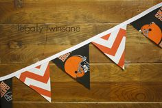 Fabric Bunting banner Cleveland Browns football by LegallyTwinsane, $14.00