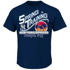 Men's New York Yankees Majestic Navy Spring Training Bound T-Shirt