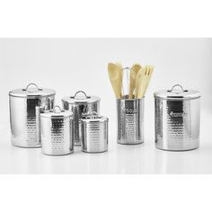 Old Dutch International Hammered 4-Piece Canister Set