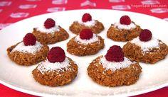 Rebecca's Raspberry Coconut Macaroons - vegan