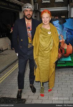 Vivienne Westwood and her husband Andreas. Her Hubby?!!! You Go Viv!!!!