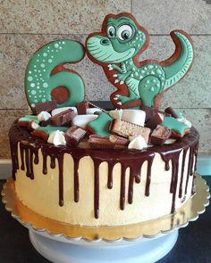 Торт для мальчика  динозавр пряники