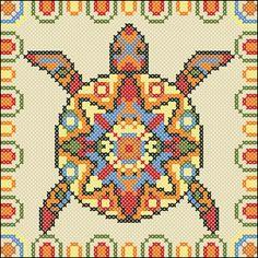 Mayan turtle cushion chart   Happy Stitch