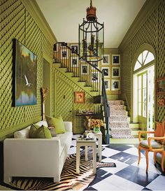 Green with envy. Photo by Eric Piasecki for Architectural Digest