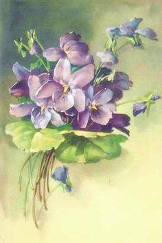 Vintage printable violets