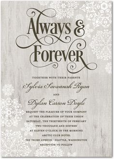 Novel idea literary wedding invitation set print yourself save wedding paper divas can personalize love birch back with snowflakes solutioingenieria Gallery