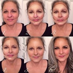 #ShareIG Here is a very special tutorial for my beautiful ladies with mature skin! Yes you can still contour but always make sure that with any makeup you apply on mature skin you want NO HARSH lines. I wanted to accent my gorgeous mother-in-law's natural beauty so I emphasized her cheekbones and gave her a youthful, dewy finish. I used @cinemasecretspro cream and anastasiabeverlyhills contour kit to contour over them. i really recommend either a cream foundation or a tinted moisturizer/bb…