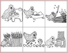 """Images séquentielles """"La petite poule rousse"""" - Rédaction au primaire"""