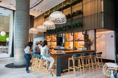 Bar area at Halifax in the W Hotel in Hoboken, NJ