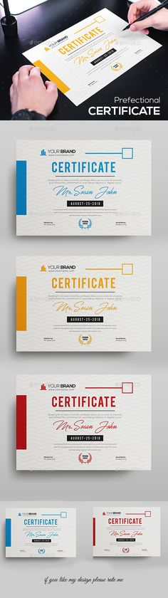 Buy Certificate by DUrgaDesigns on GraphicRiver. Certificate Template Fully Clean Certificate Paper Size With BleedsQuick and easy to customize templatesAny Size C. Stationery Printing, Stationery Templates, Stationery Design, Certificate Layout, Certificate Design Template, Layout Design, Print Design, Graphic Design, Brochures