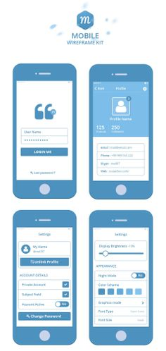 Mobile Wireframe Kit, #Buttons, #Calendar, #Checkbox, #Flat, #Form, #Free…