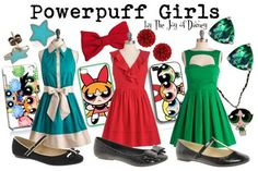 Outfits inspired by the Powerpuff Girls from Cartoon Network