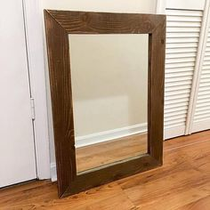 Rustic Barnwood Mirror Farmhouse Mirror Reclaimed Wood Reclaimed Wood Mirror, Farmhouse Mirrors, Rustic Vanity, Vanity Mirrors, Barn Wood, Oversized Mirror, Projects, Furniture, Home Decor