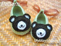 Crochet Pattern  Little Bear Crochet Baby Booties ♥ by MyMayaMade, $5.99