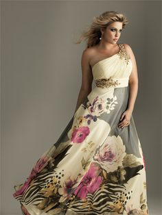 one should gown with flower print