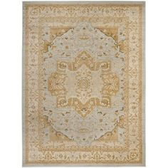 @Overstock.com - Heriz Light Grey/ Gold Rug - Create an elegant focal point in any room with this Oriental polypropylene rug. Featuring warm tones and a classic design, this handsome rug adds vintage charm to your decor. The soft pile is comfortable to walk across even with bare feet.  http://www.overstock.com/Home-Garden/Heriz-Light-Grey-Gold-Rug/7516686/product.html?CID=214117 $43.19