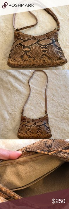 Purse Authentic python skin, (Real python skin) dual purpose strap for adjusting long or short. (cross strap or shoulder) purchased in Milano Italy, no tags or certificate, 3 years old. Original price €400 & Other Stories Bags Shoulder Bags