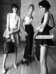 #5 Balenciaga Spring 2013 Campaign, hairstyles reminiscent of the directoire period a la victime hairstyle.