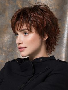 Discover brand new hair care tips. Hairstyle For Long Hair. Short Shag Hairstyles, Short Hairstyles For Women, Short Shaggy Haircuts, Short Hair Cuts, Short Hair Styles, Short Wigs, Layered Hair, Synthetic Wigs, New Hair