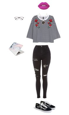 """Day at the Library"" by bvbyaria on Polyvore featuring Topshop, J.Crew, Recover and Lime Crime"