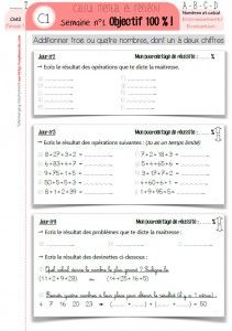 [Mathématiques] CM2 : Une année de calcul mental ! - Cycle 3 ~ Orphéecole
