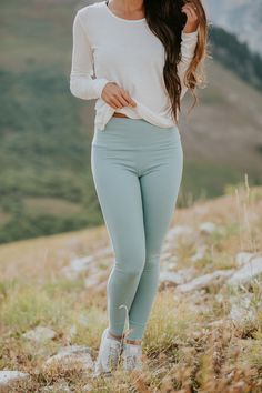 our beautiful BRAND NEW {Go Soft Legging, Millcreek Blue} | @albionfit