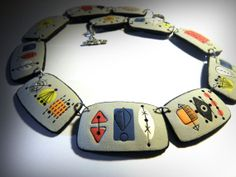 OOAK Polymer clay necklace inspired by 50's by OrsonsWorld on Etsy, $125.00
