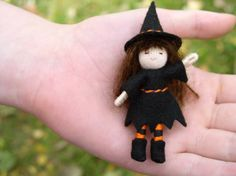 Waldorf Bendy Doll Waldorf Doll Tiny Witch by EnchantedForest