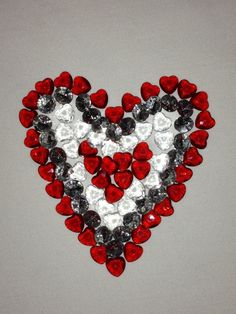 Crsytal bead pictures- a heart for Auntie Roz.x