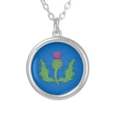 Thistle Silver Plated Necklace
