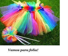 Fantasia Carnaval - Saia e varinha Infan