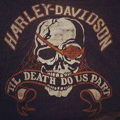 """vintage Harley Davidson t shirt early 80's skull rare"""