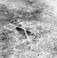 High oblique aerial view of Luqa airfield, Malta, taken at feet from the south-east. Malta History, Malta Beaches, George Cross, Malta Island, Beach Trip, Beach Travel, Royal Air Force, Royal Navy, North Africa