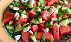 Zomerse salade met watermeloen, feta en munt - Francesca Kookt