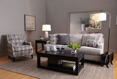Brielyn Grey Accent Chair - Living Spaces