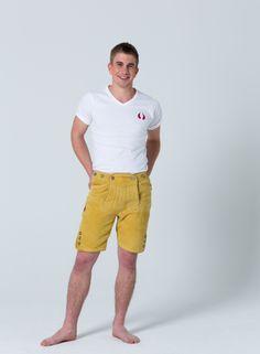 Devilskins Lederhose Yellow - Super Soft Wild Buck Leather #gelbe_Lederhose #Lederhose #Devilskins #moderne_lederhose #Herren_Lederhose