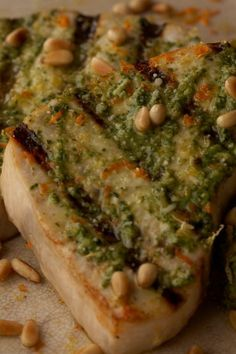 Get Swordfish With Citrus Pesto Recipe from Cooking Channel