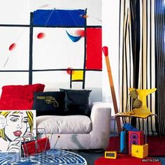 Chic Interior Design Inspired By Pop Art