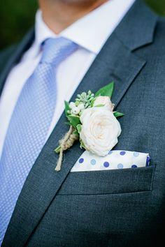 #boutonniere  Photography: Kristyn Hogan - www.kristynhogan.com  Read More: http://www.stylemepretty.com/2014/01/28/rustic-wedding-at-historic-cedarwood/