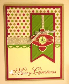 by Karen Philipp, Stampin with Z-Grandma Karen: Christmas Ornament Card