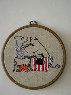 Moomins embroidery for my kitchen