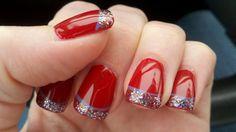 Unghie natalizie 2012 fai da te rosse e glitter