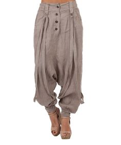 Love this LIN nature Taupe Janice Linen Harem Pants by LIN nature on #zulily! #zulilyfinds