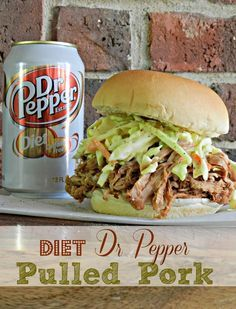 Diet Dr. Pepper Shredded Pork with Tangy Slaw