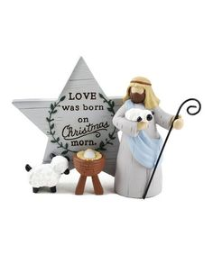 Love this 'Love Was Born' Shepherd Décor on The Birth Of Christ, Christian Christmas, Invite Friends, Holiday Festival, All Things Christmas, Bucket, Invitations, Christmas Ornaments