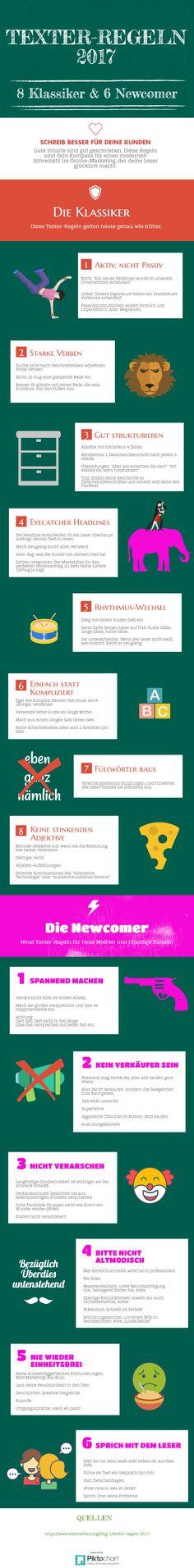 Aktuelle Texter-Regeln, mit denen du besseren Content für dein Online-Marketing schreibst.