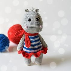 2 in 1 Crochet PATTERNS Hippo Emma and Hippo Mailo Amigurumi toy Amigurumi Pattern Crochet hippo Handmade toy Pattern in English Pattern PDF Easter Crochet Patterns, Crochet Patterns For Beginners, Crochet Basics, Amigurumi Patterns, Crochet Hippo, Crochet Animals, Crochet Dolls, Crochet Chicken, Amigurumi Toys