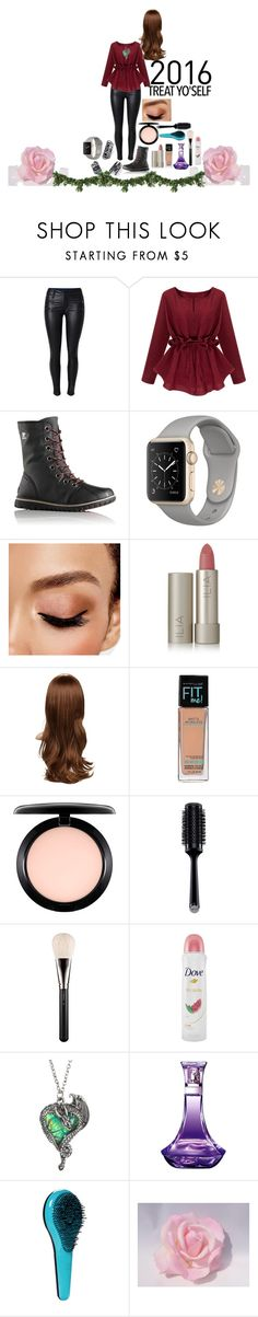 """""""Fighting For You"""" by fuzzylexiis on Polyvore featuring SOREL, Avon, Ilia, Maybelline, MAC Cosmetics, GHD and Dove"""