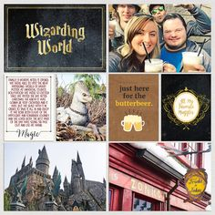 Wizarding World Harry Potter Hogwarts Digital project life page using Project Mouse (Wizarding) by Britt-ish Designs and Sahlin Studio