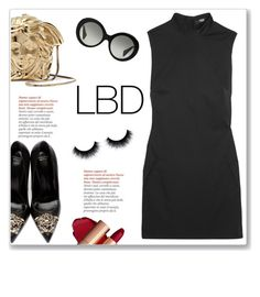 """Little Black Dress"" by christinacastro830 ❤ liked on Polyvore featuring Versace, Versus and LBD"
